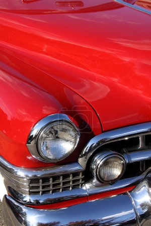 Photo for Classic car with close up shot front right view - Royalty Free Image