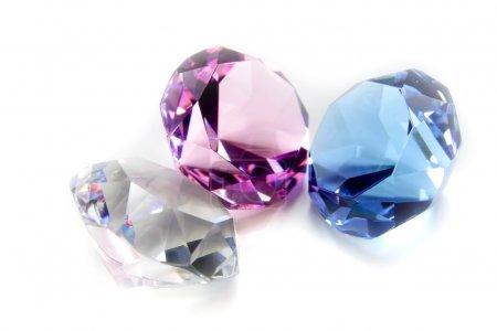 Three different colored diamonds