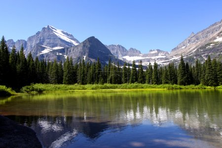 Photo for Scenic landscape of Swift current lake in Glacier national park - Royalty Free Image
