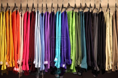 Photo for Female pants in a fashion shop - Royalty Free Image