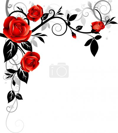 Illustration for Decorative background with roses - Royalty Free Image