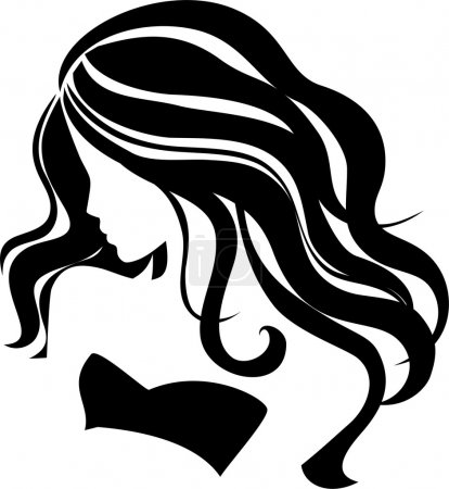 Illustration for Beautiful girl with long hair - Royalty Free Image
