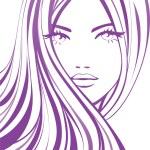 Beautiful girl with long hair...