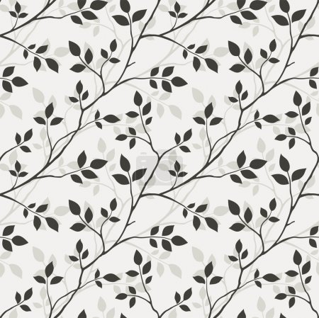 Illustration for Pattern with leaves - Royalty Free Image
