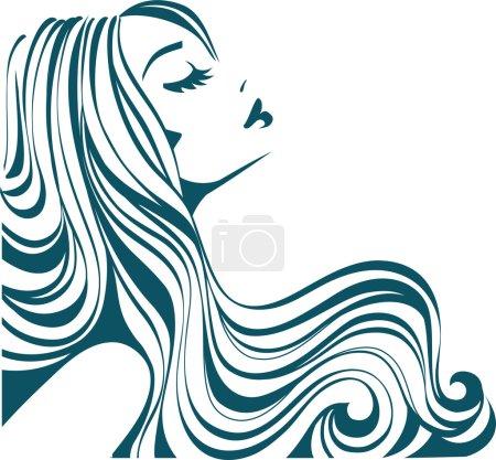 Illustration for Female icon - Royalty Free Image