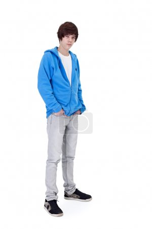 Teenager boy standing