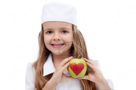 Photo for Healthy nutrition concept - eat an apple a day - Royalty Free Image