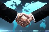 Handshake of two business