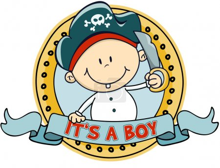 Illustration for Cute little pirate boy - Royalty Free Image