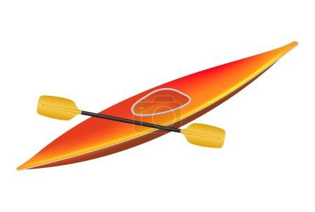 Illustration for Kayak with paddle isolated on white background - Royalty Free Image