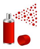 Sprej červený design