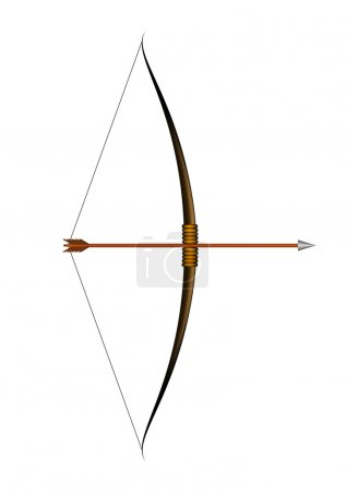 Illustration for Bow and arrow isolated on white background - Royalty Free Image