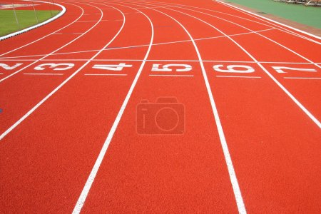 Photo for Running track start and finish for background - Royalty Free Image