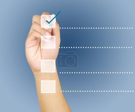 Hand check mark