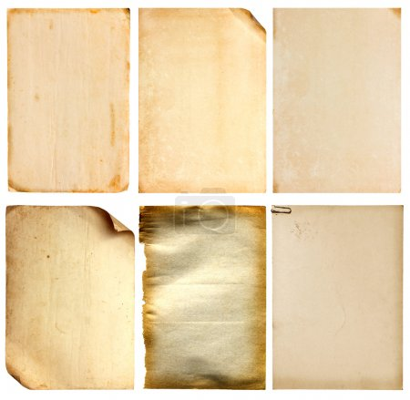 Photo for Set of old vintage paper background (clipping path) - Royalty Free Image