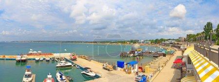 Photo pour Le littoral de la ville d'Anapa en mer Noire - image libre de droit