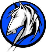 Mustang Stallion Graphic Mascot Vector Image