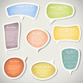 Speech bubbles with calligraphic elementsVector set
