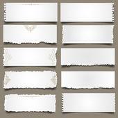 Ten notes paper Vector eps 10