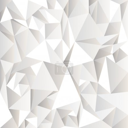 Illustration for White crumpled abstract background.Vector eps10 - Royalty Free Image
