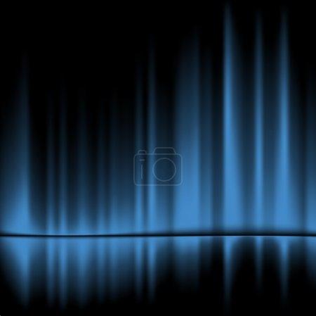 Illustration pour Rideaux bleus réfléchis. Fond vectoriel, 10eps - image libre de droit