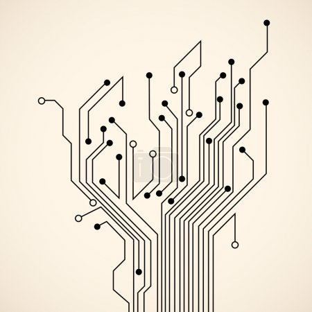 Illustration for Abstract circuit tree. Vector background - Royalty Free Image
