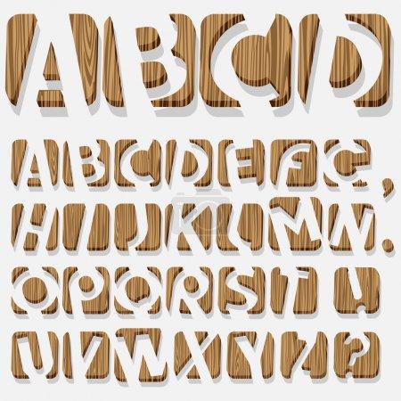 Illustration pour Alphabet 3D en bois.Vecteur eps10 - image libre de droit