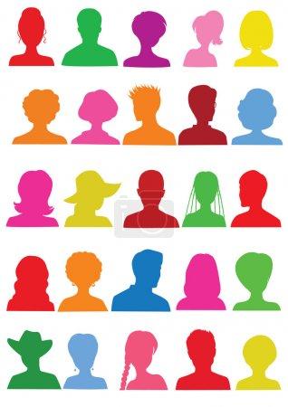 25 Anonymous colorful mugshots