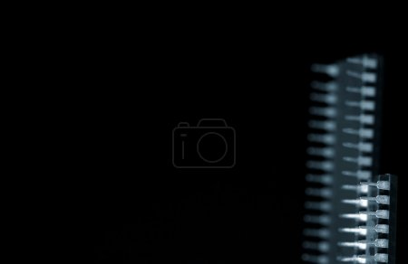 Photo for Two microchips, set against a black background - Royalty Free Image
