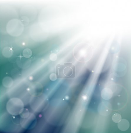 Bokeh light rays background