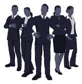 Illustration of a young dynamic smart business team