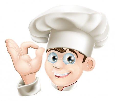 Smiling cartoon chef