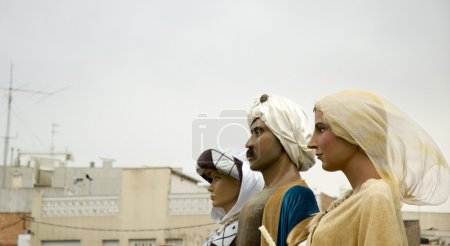 Photo for Traditional giants parade in Spain - Royalty Free Image
