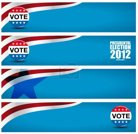 Voting - election banners