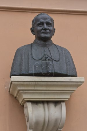 A bust of John Paul II in his home town, Warsaw...