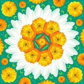 Mandala kolo ornament vzor květinové výkresu