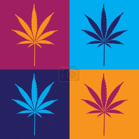 Four cannabis leafs