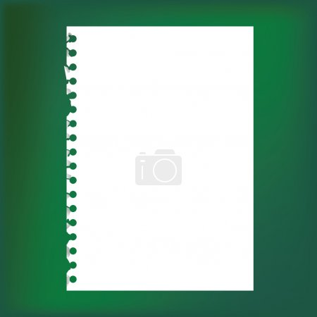 Blank notepad paper