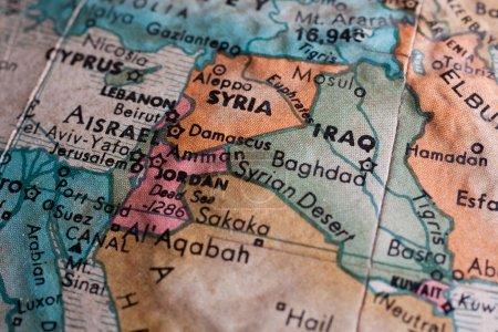 Photo pour Carte du Moyen-Orient se bouchent - image libre de droit