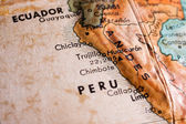 Peru and Ecuador map