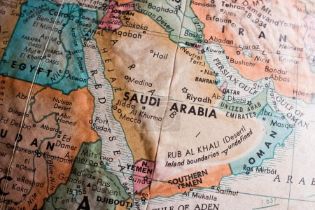 Photo for Saudi Arabia map close up view - Royalty Free Image