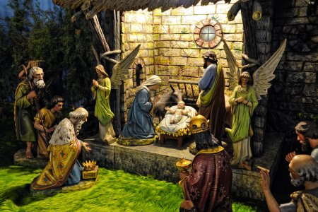 Bethlehem Christmas - wooden carved