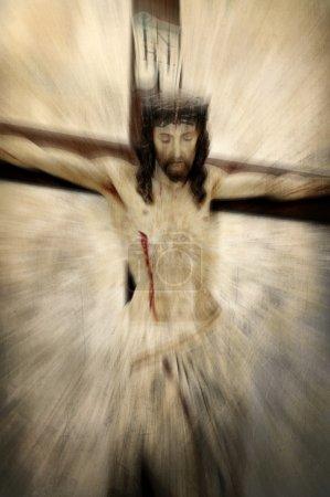 Jésus-Christ crucifié - abstraction de Pâques
