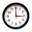 An isolated clock with the time being three am....
