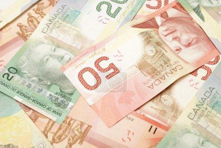 Photo pour Un gros plan de la monnaie canadienne dans les années 20 et 50 . - image libre de droit