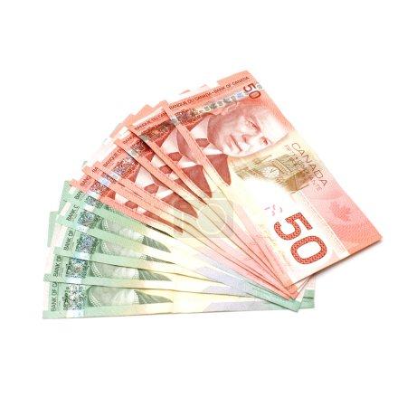 Photo pour Un tir isolé de monnaie canadienne dans les années 20 et 50 . - image libre de droit