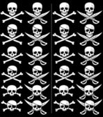 Jolly Roger in 24 different versions Those on the right are with grunge effect No transparency and gradients used