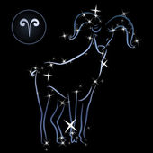 Aries/Lovely zodiac sign formed by stars