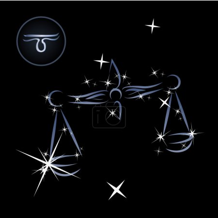 Illustration for Lovely zodiac sign formed by stars - Royalty Free Image