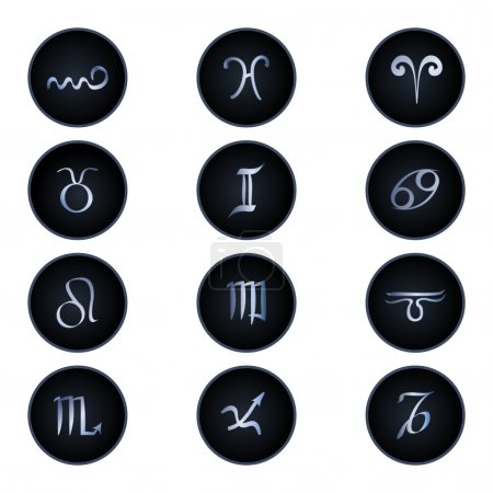 Illustration for Zodiac signs isolated on white - Royalty Free Image